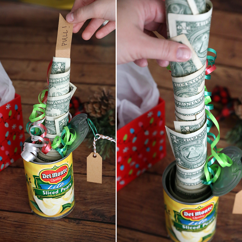 Funny Christmas money gift idea: Cash in a can - It's ...