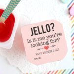 Jello Valentines: easy classroom Valentine idea