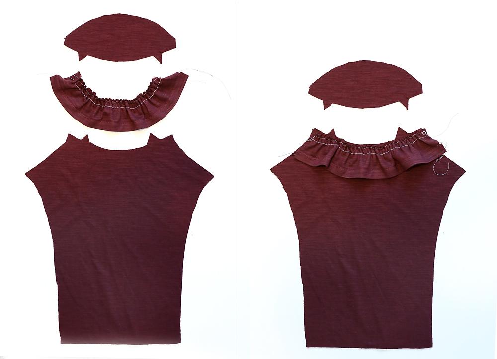 Girls' ruffle top free sewing pattern.