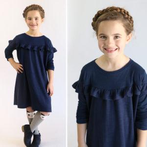 Girls' ruffle dress free sewing pattern