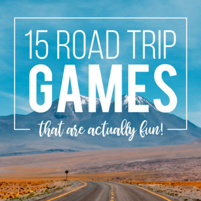 Easy road trip games that are actually fun!