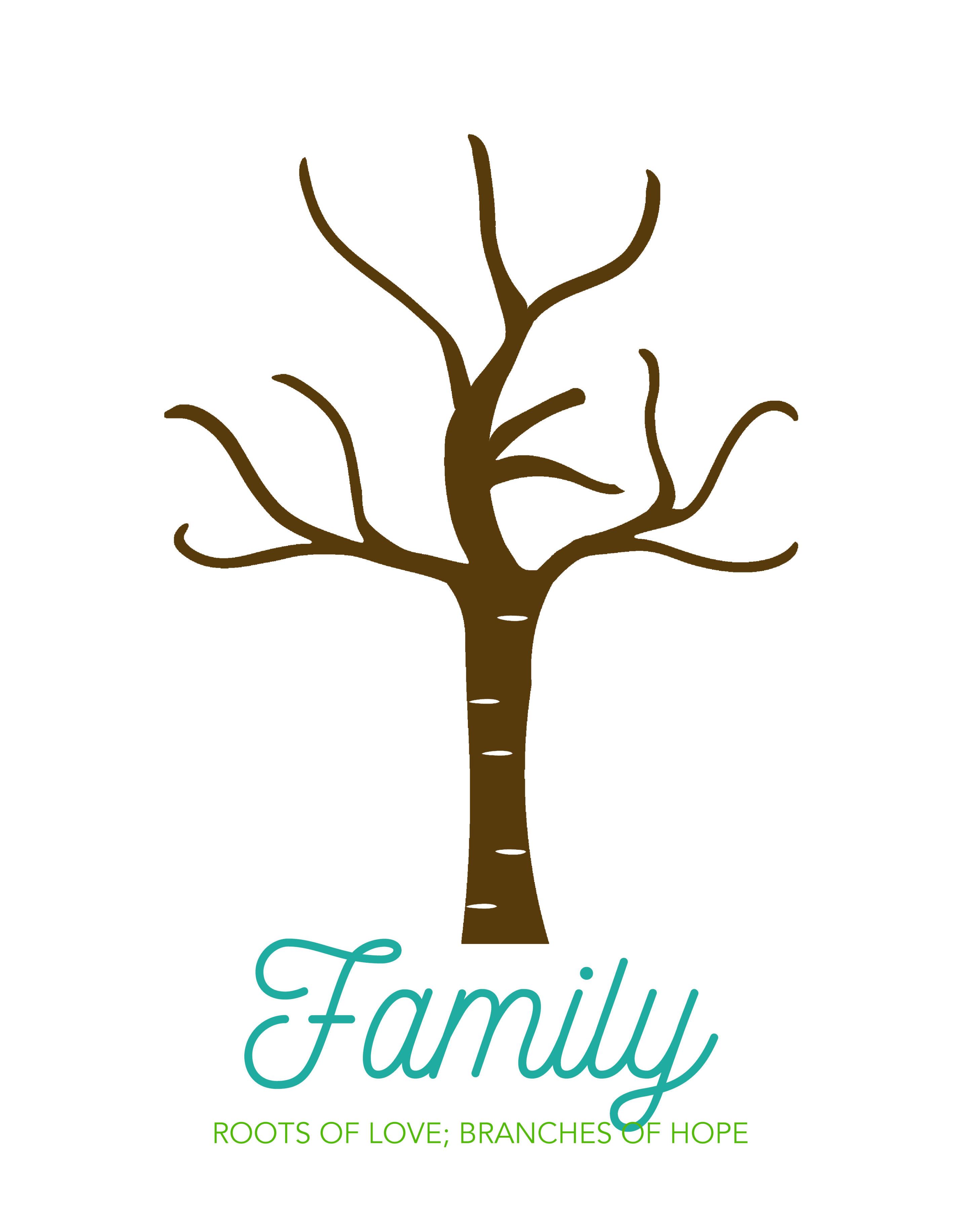 image regarding Printable Handprints identify Create an lovable family members handprint tree superb present strategy