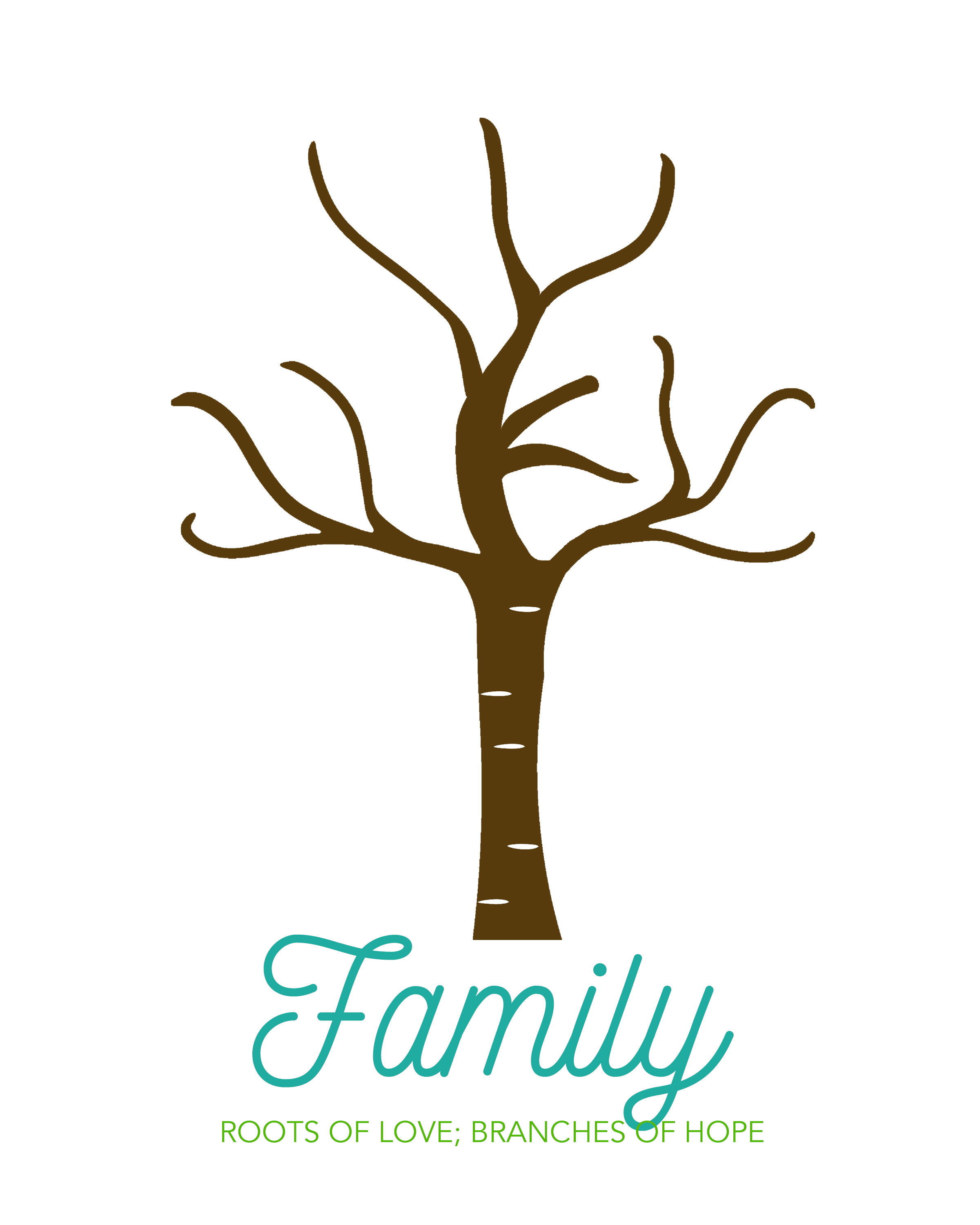 image relating to Printable Tree named Create an cute family members handprint tree outstanding reward strategy