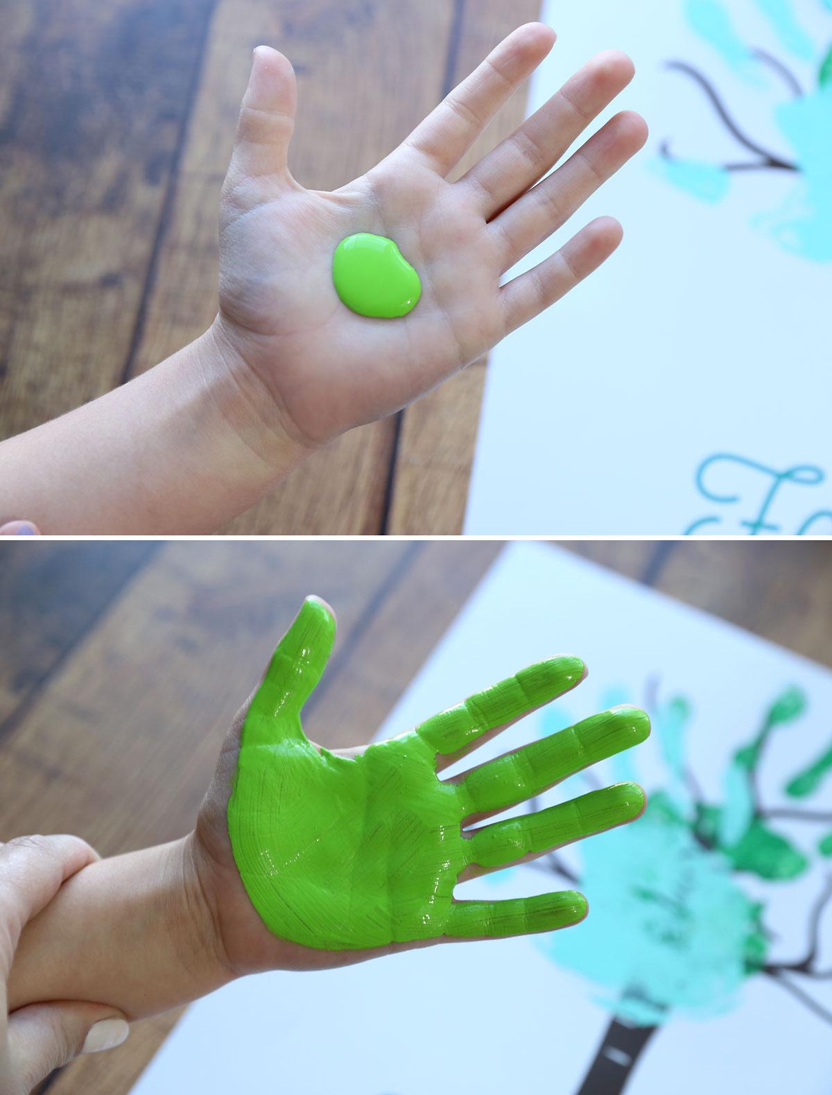 How to make a family handprint tree.