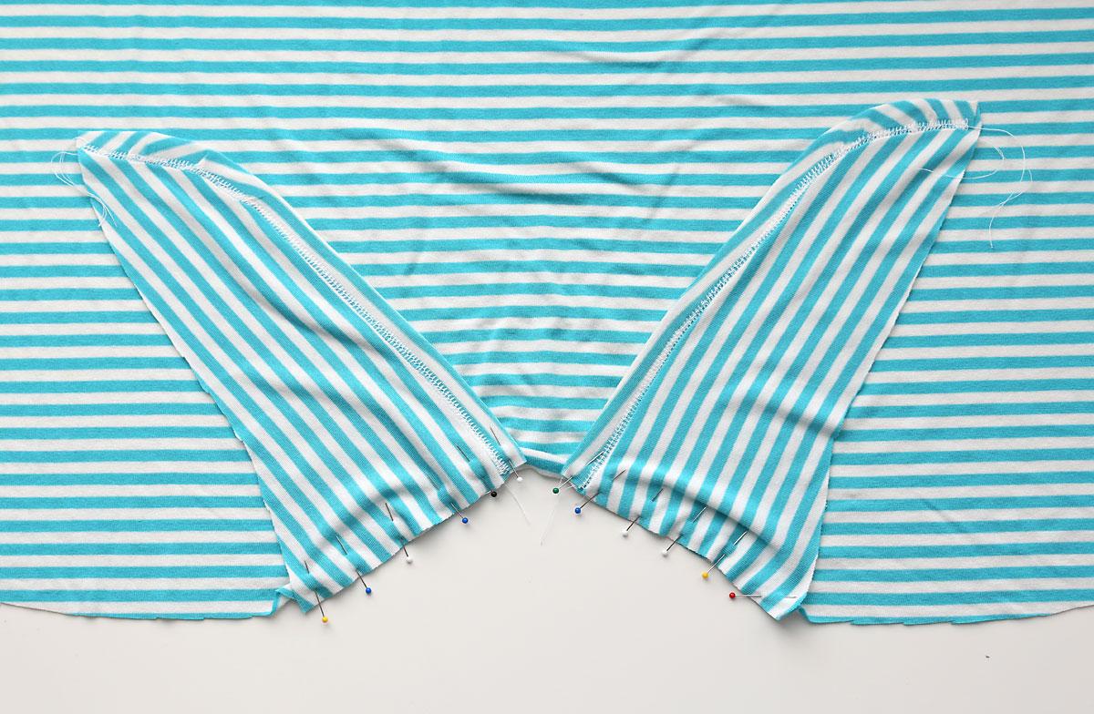 Waist tie t-shirt pattern
