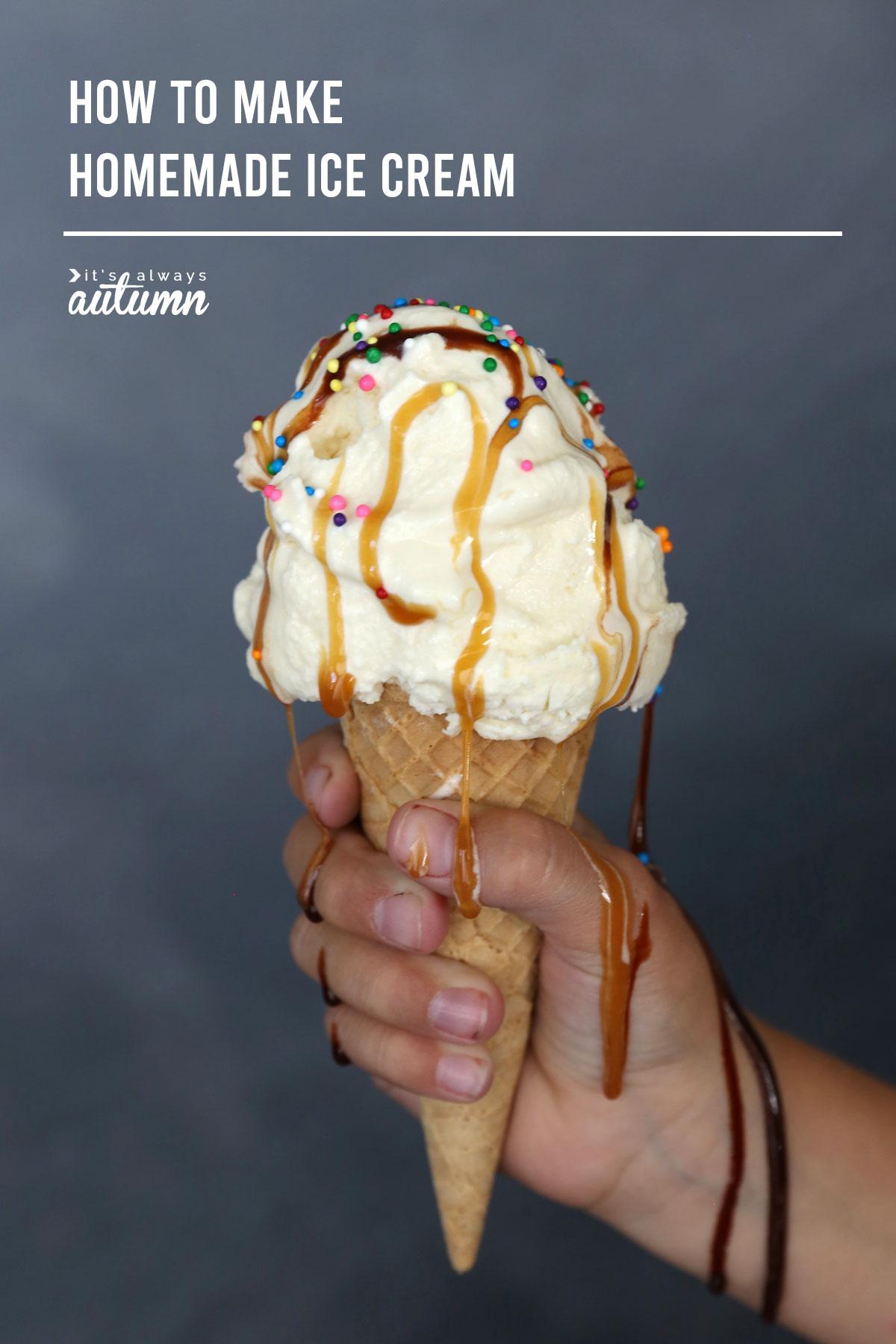 How to make amazing homemade ice cream. The best vanilla ice cream recipe.