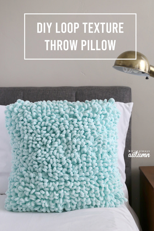 Make this gorgeous textured throw pillow using loop yarn.