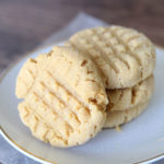 Easy 4 ingredient peanut butter cookies