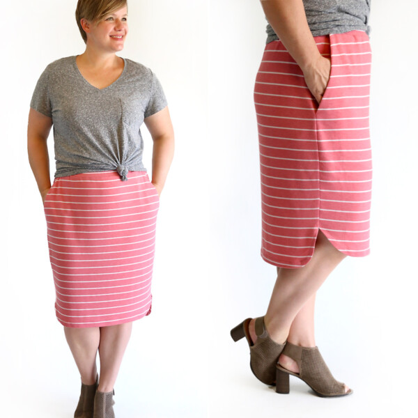 Your new favorite skirt! Click through for the free sewing pattern and tutorial.