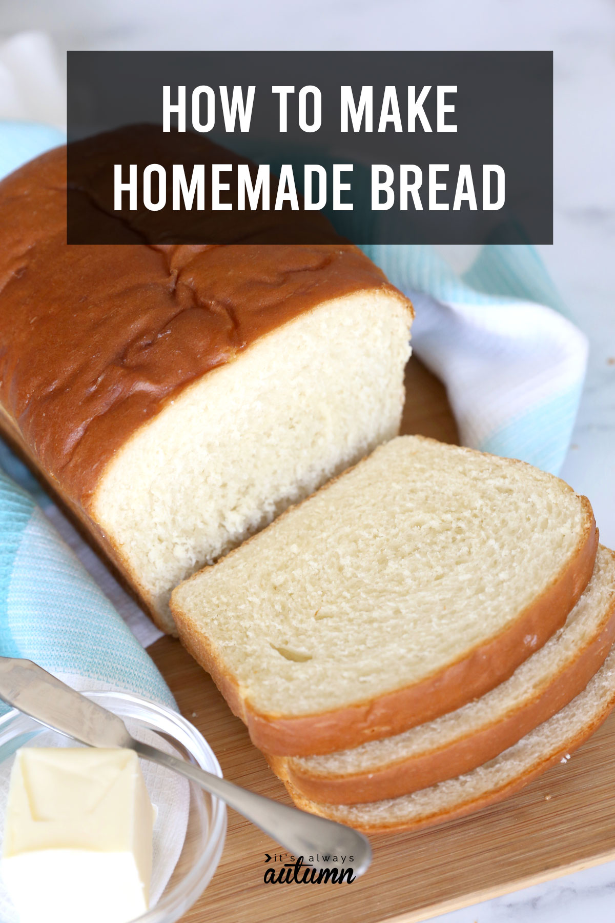 This is THE BEST homemade bread recipe! Includes step by step video instructions.