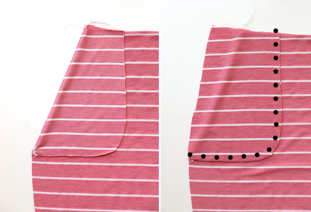 How to make a skirt: pockets