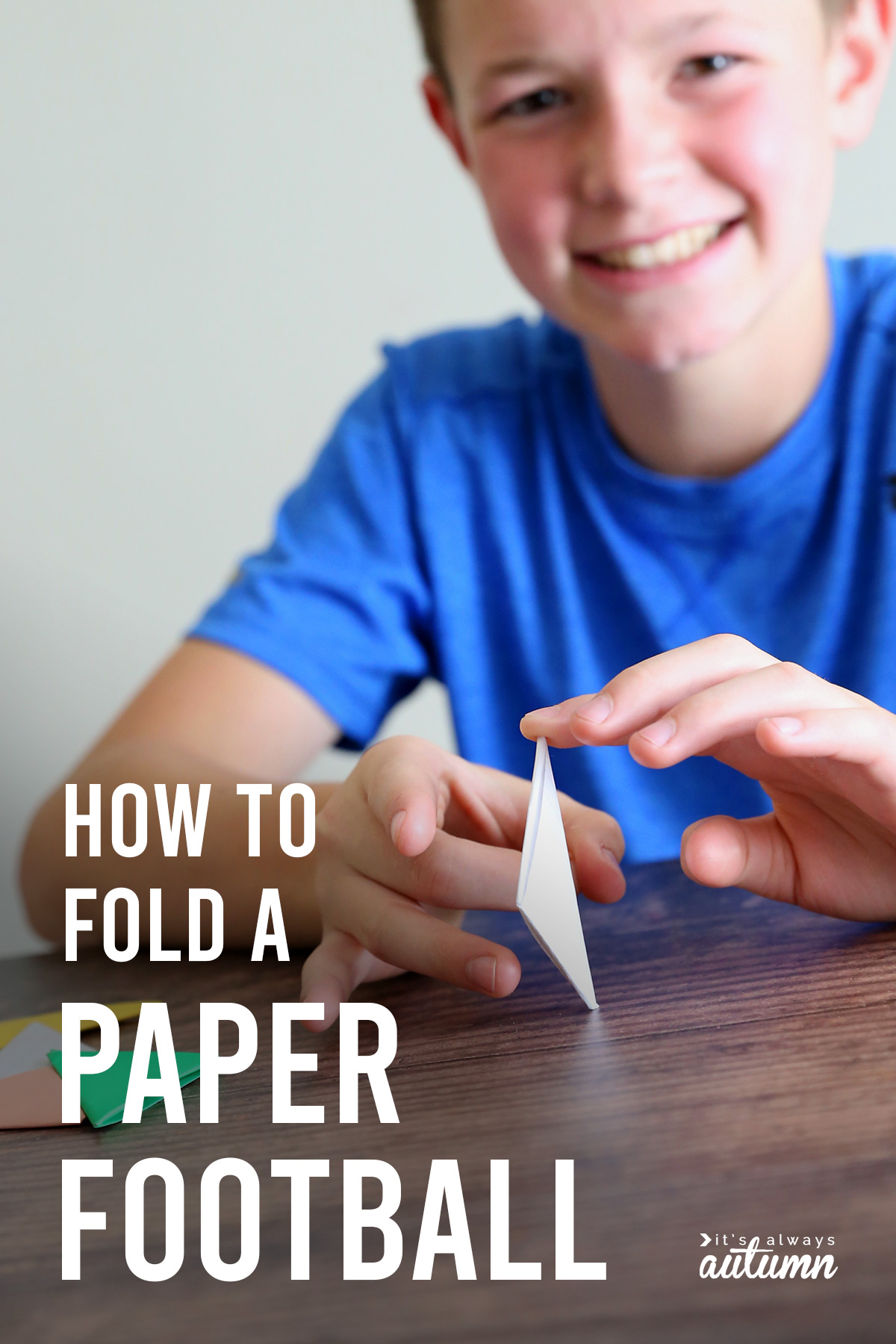 How to make a paper football