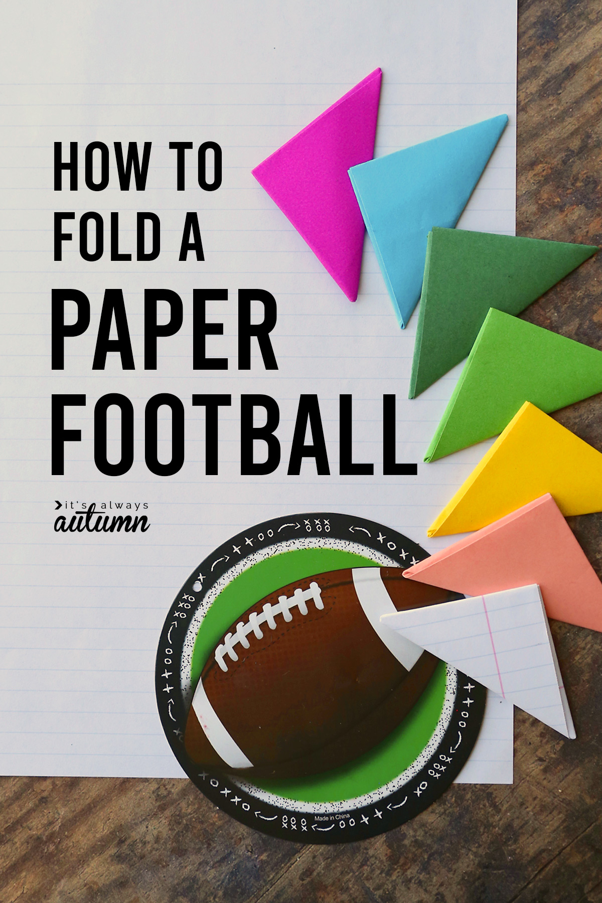 Learn how to make a paper football and play flick football!