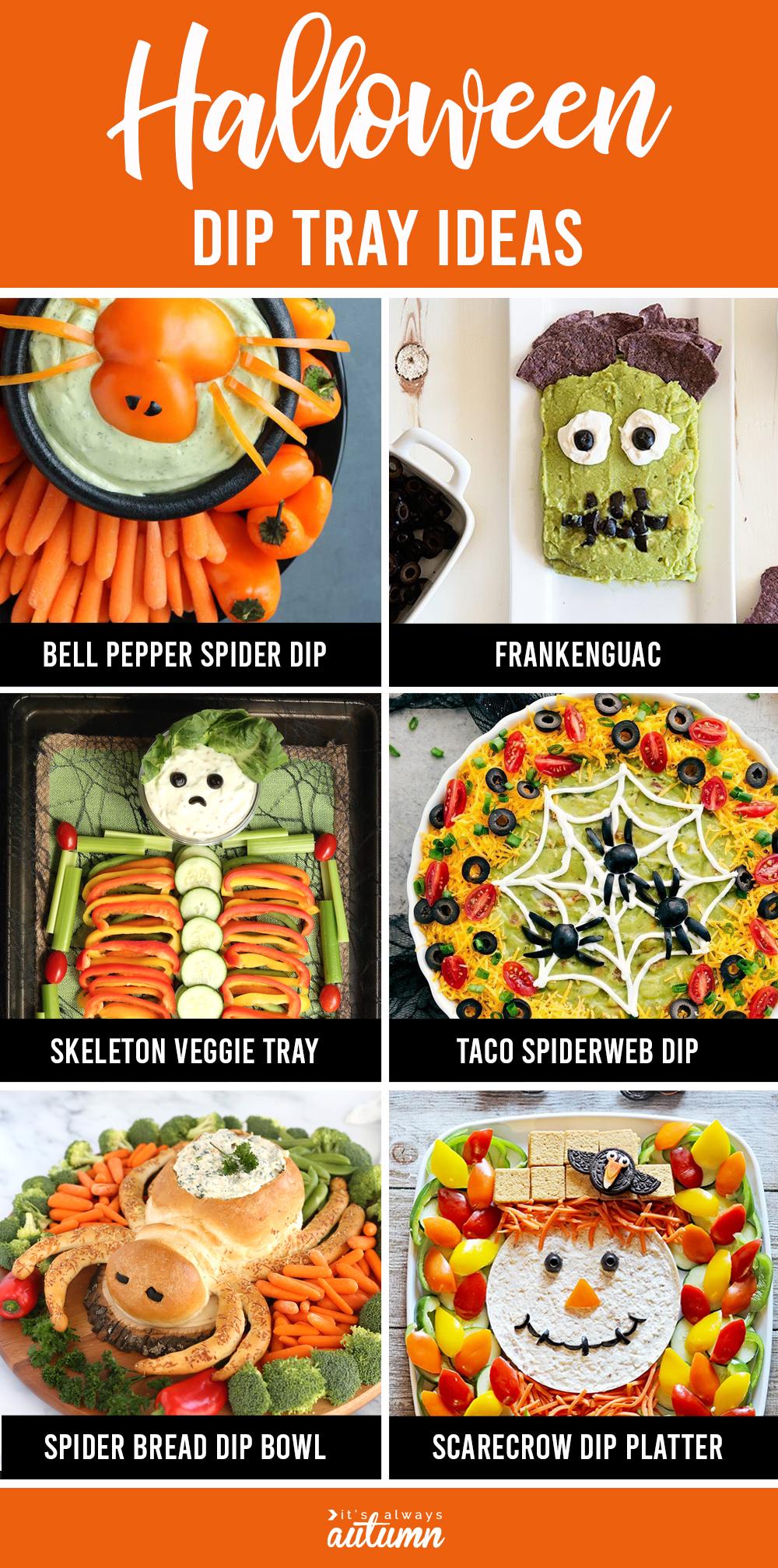 Halloween dip tray ideas