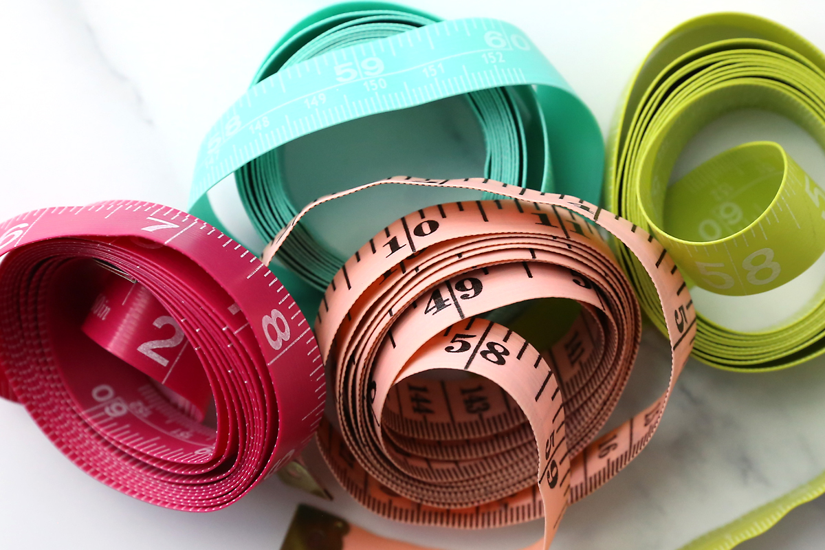 Sewing tools: measuring tapes