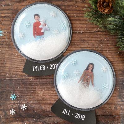 Easy Photo Snow Globe Craft for Kids