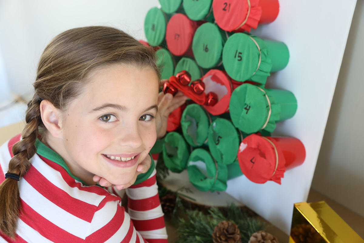 This punch out Advent Calendar is so much fun! It's easy to make and kids will love it!