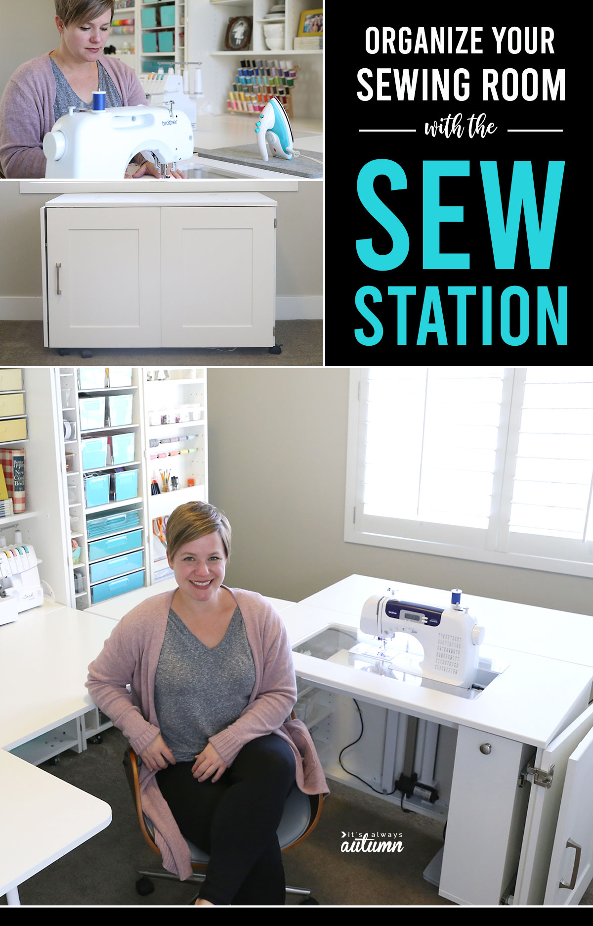 Create an AMAZING craft room with the Sew Station plus a Dreambox. Click through for a video tour!
