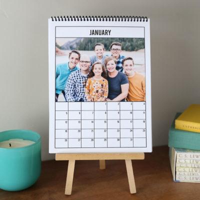 DIY 2020 Photo Calendar {just print + add photos!}
