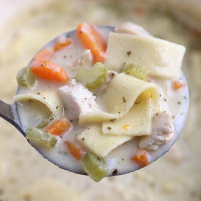 Creamy Chicken Noodle Soup {so easy and no heavy cream!}