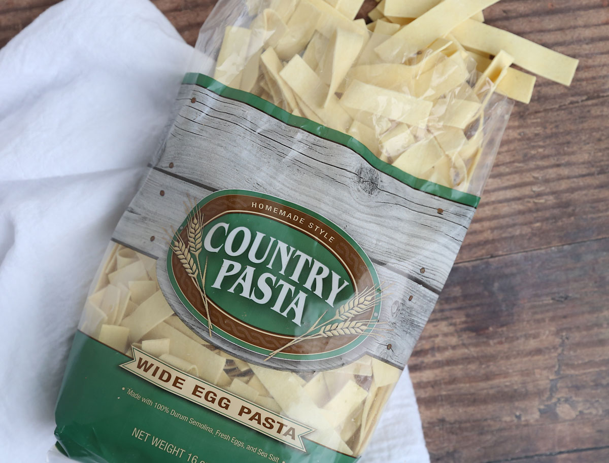 Best noodles for chicken noodle soup: country pasta