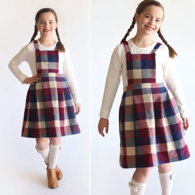 How to Make a Pleated Pinafore Dress in any size!