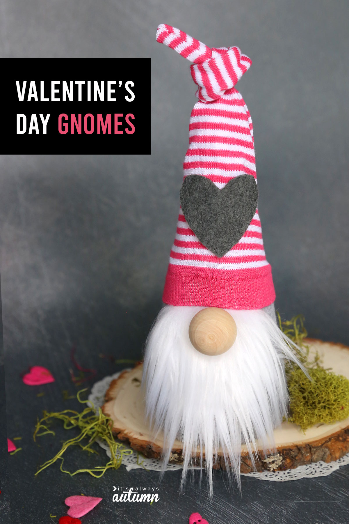 It's easy to make an adorable sock gnome for Valentine's day or any holiday!