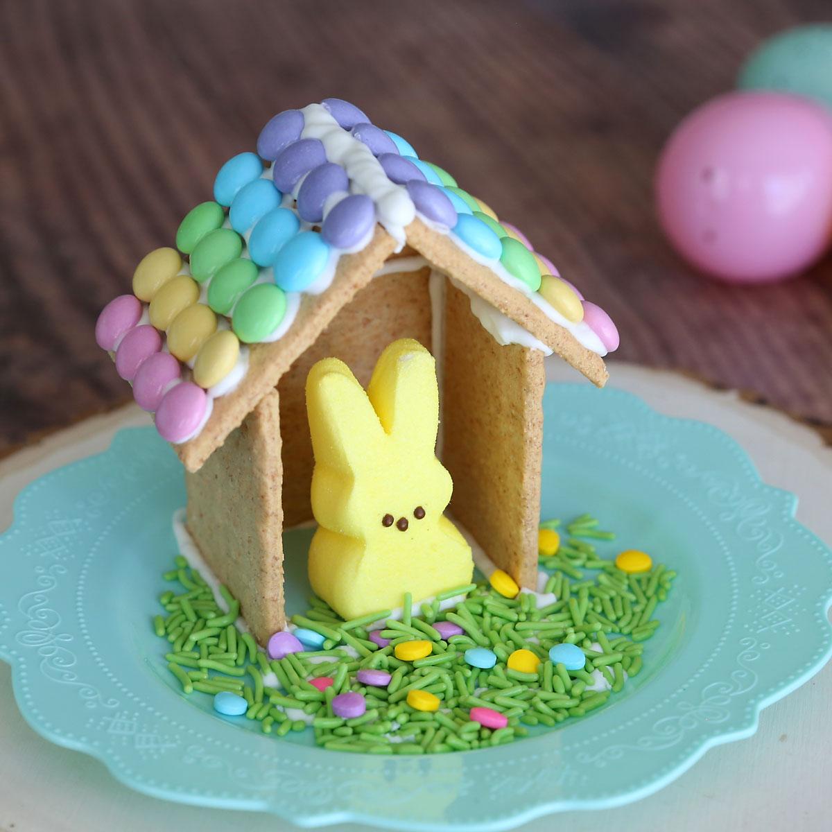 Make a nice Peeps house (Easter gingerbread house)