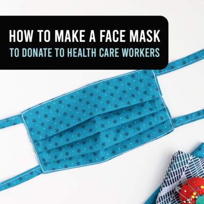 How to make a Face Mask to help Health Care Providers