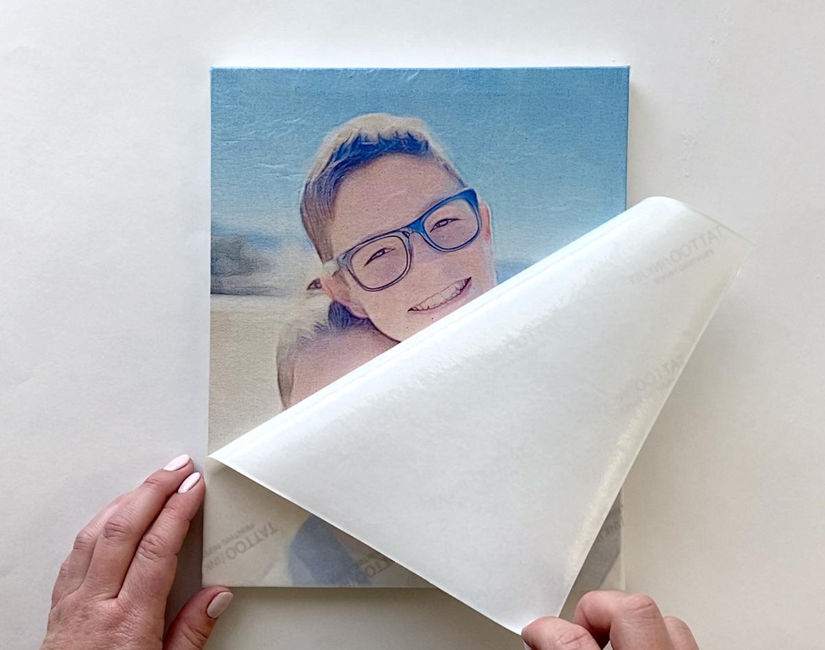 Peel away tattoo paper liner