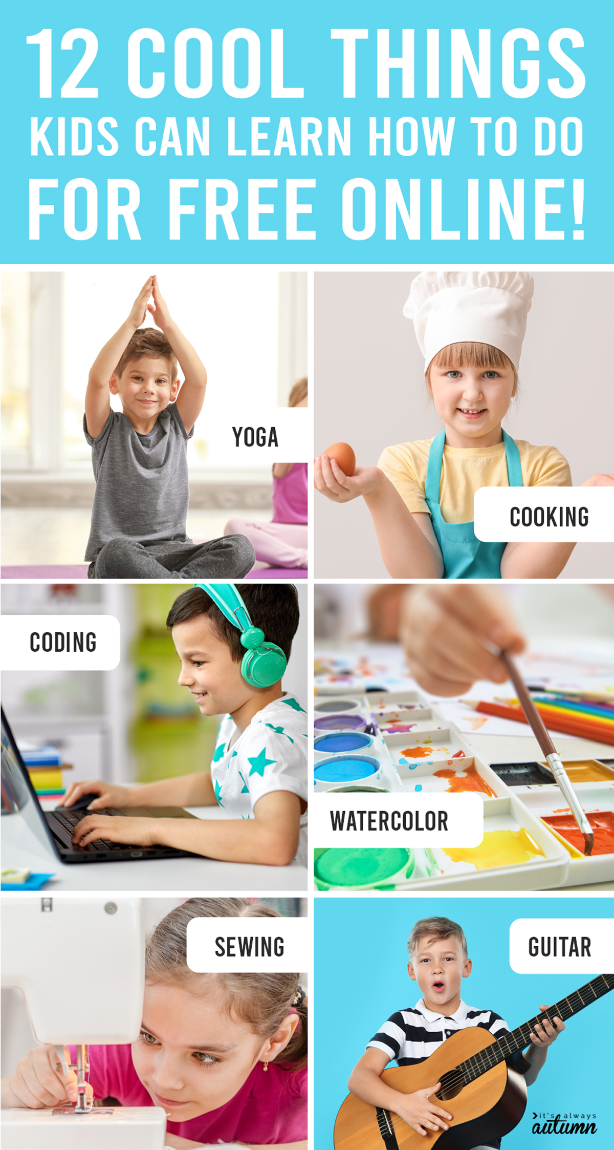 Click through for 12 cool things kids can learn online for FREE!