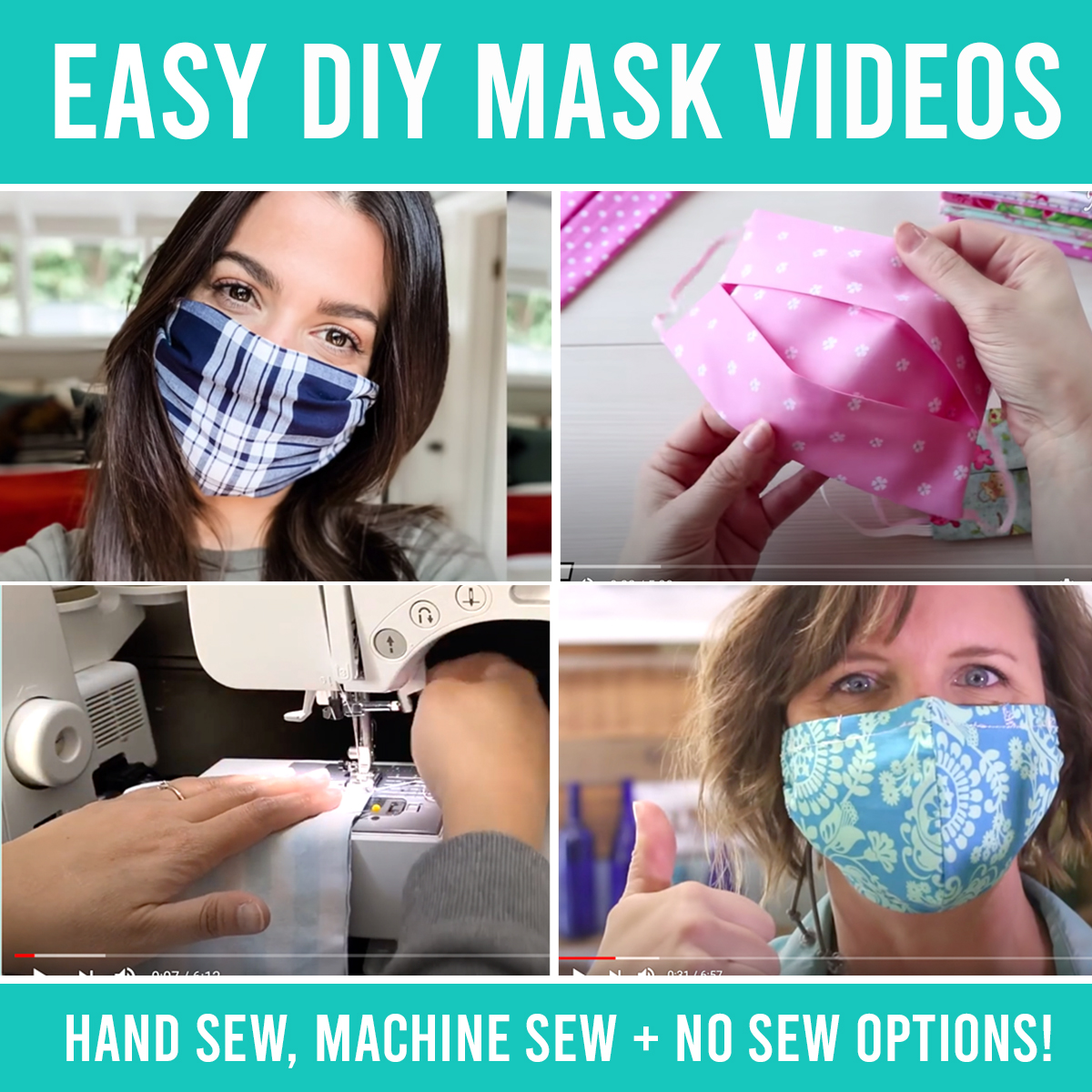 The best EASY homemade face mask VIDEOS {including no sewing options}