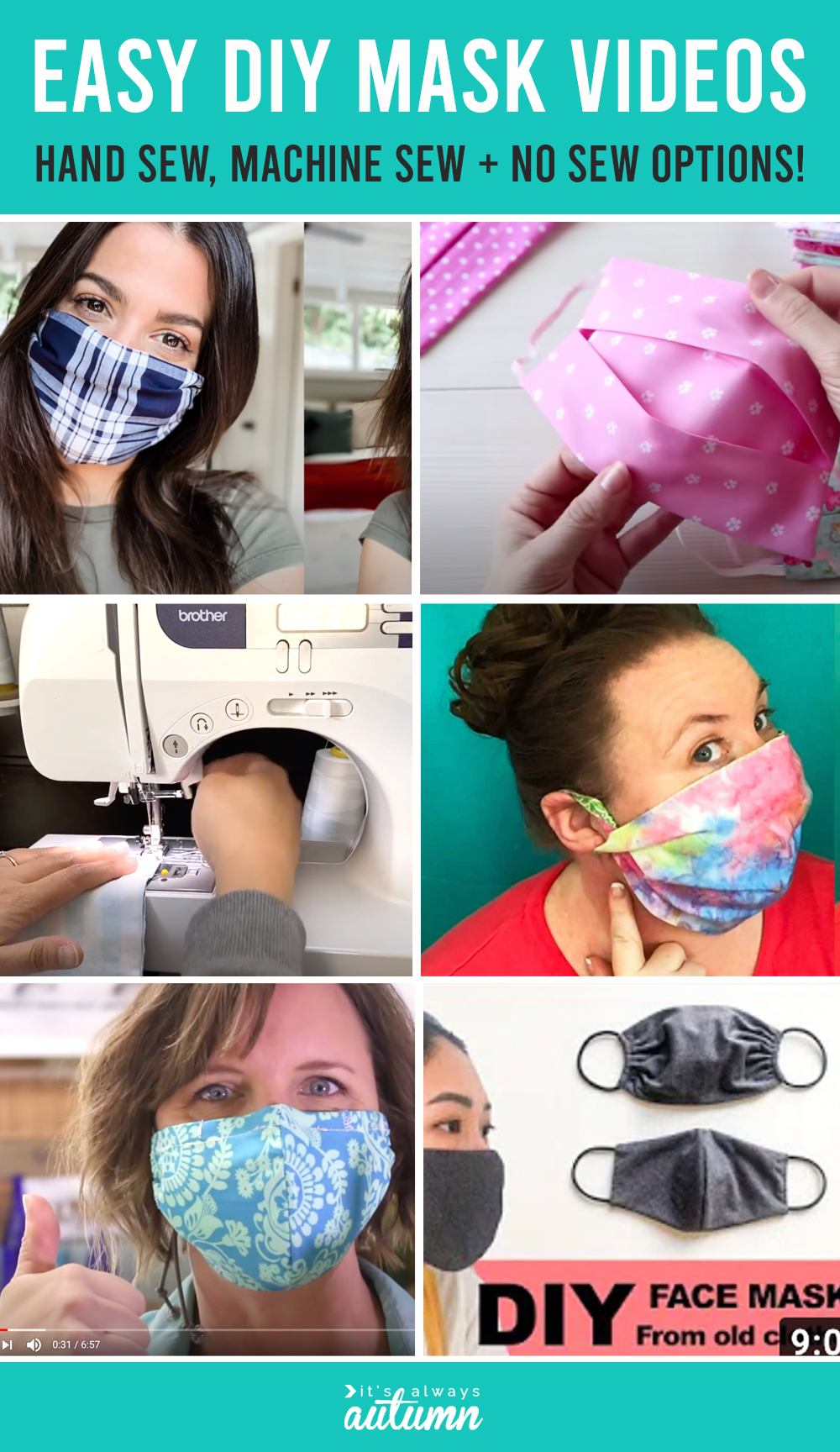 Need to make a homemade face mask? Find the best EASY DIY face mask videos right here.