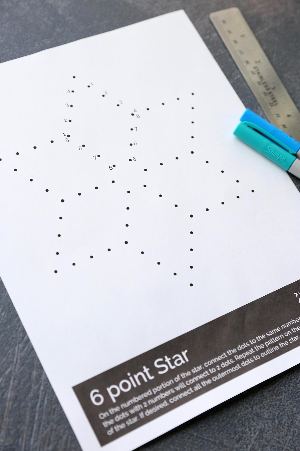 Star line art worksheet