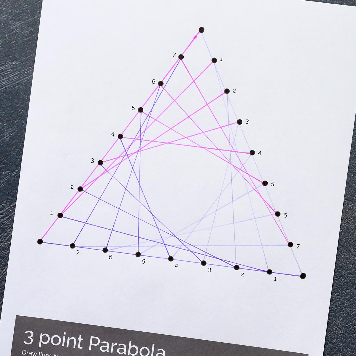 Parabola line art