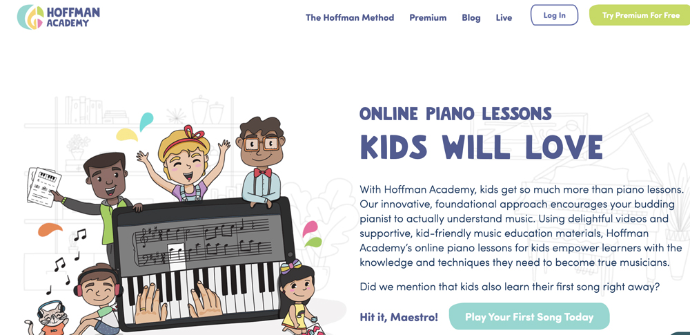 Free online piano class for kids