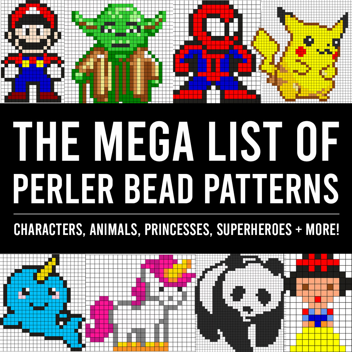 GIANT Perler Beads List {fuse beads, fused beads}