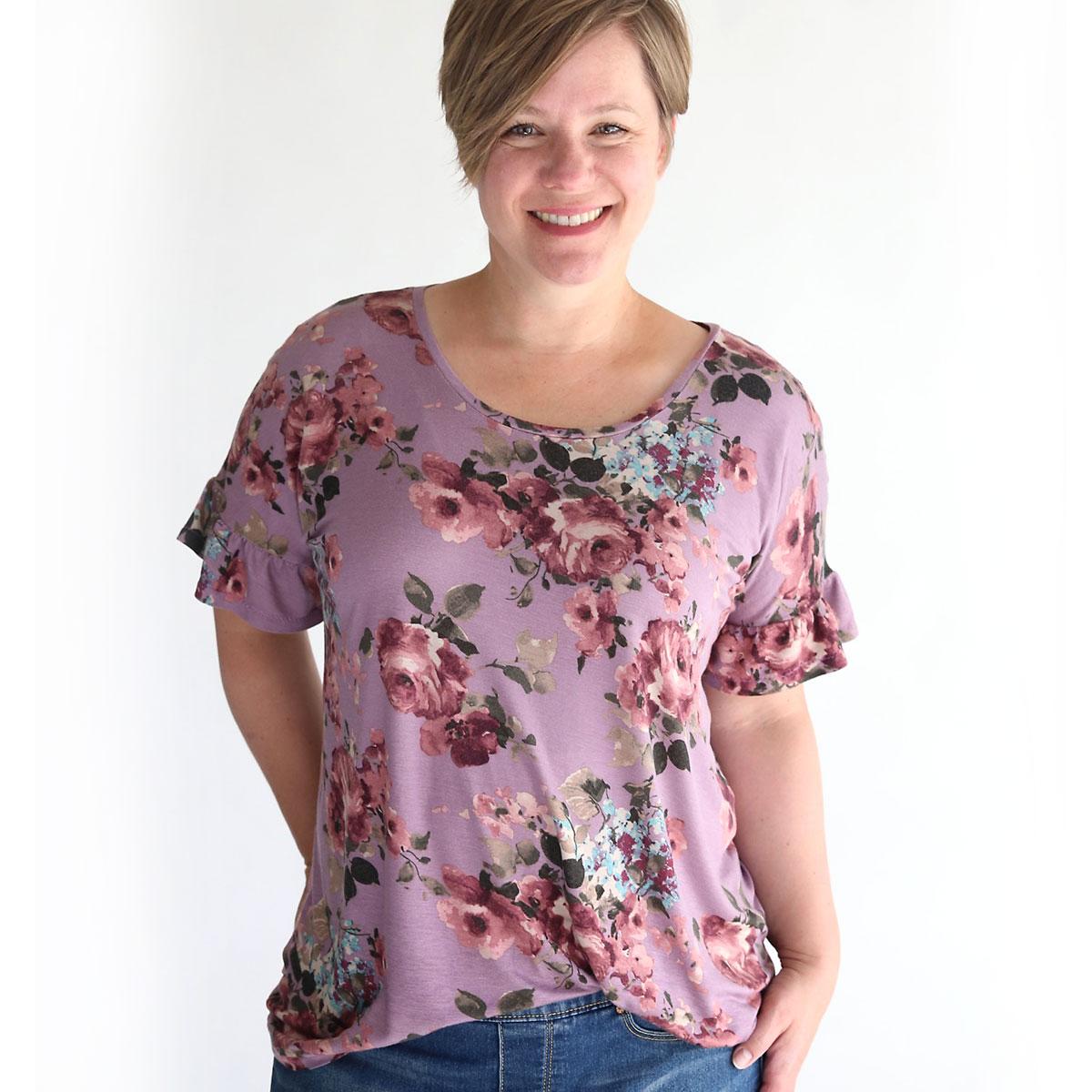 Breezy Tee free sewing pattern + sleeve sleeves