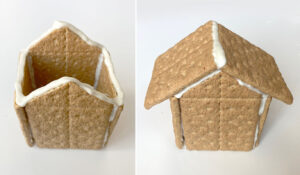 House made from graham crackers